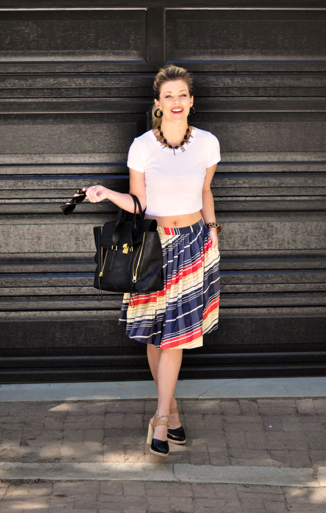 crop top style with skirt for summer 2013
