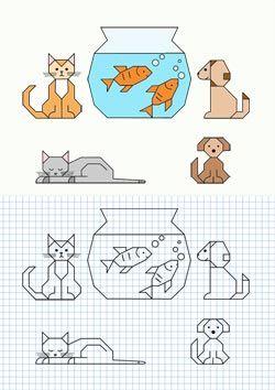 PUERTAS A LA IMAGINACIN Dibujos en cuadrcula