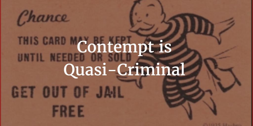 Sean Y Palmers Texas Family Law Resource Contempt Is Quasi Criminal