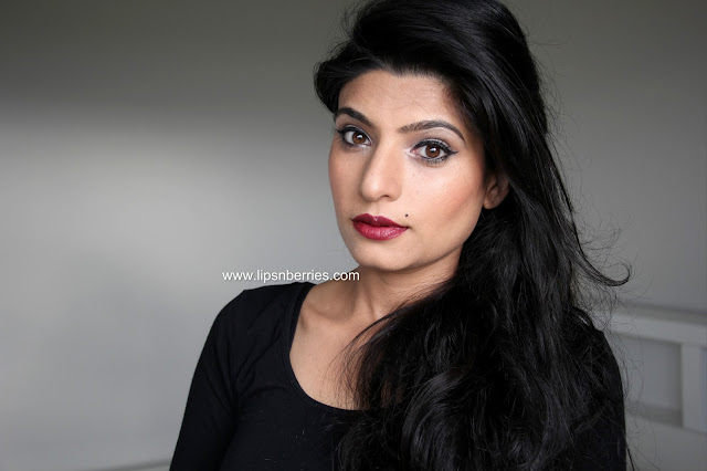 MAC Dark side lipstick on NC35 skin