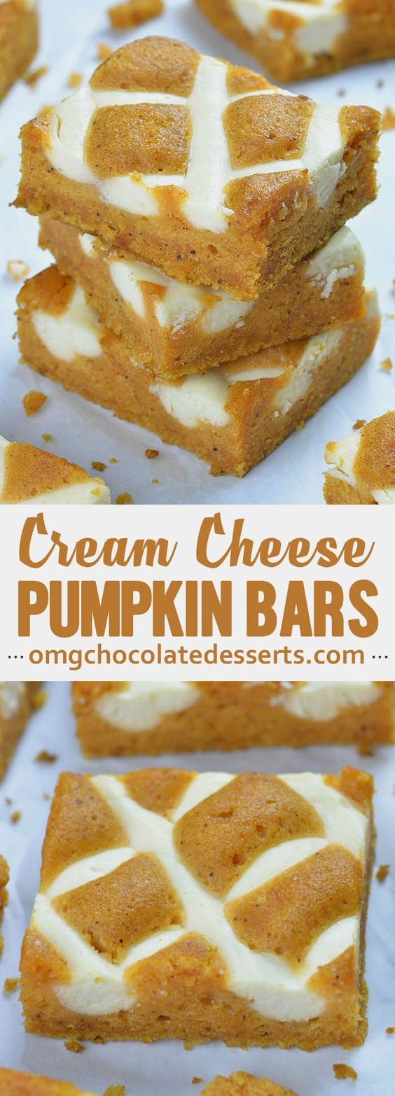 Pumpkin Bars With Cream Cheese