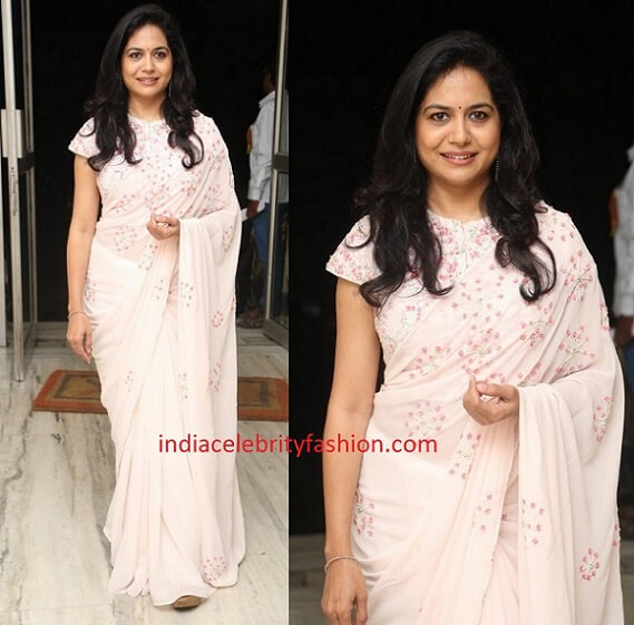 Singer Sunitha in Light Color Saree