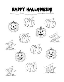 halloween therapy coloring pages   Ms. Lane's SLP Materials: Articulation: Generic Halloween ...