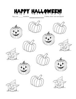 Ms. Lane's SLP Materials: Articulation: Generic Halloween