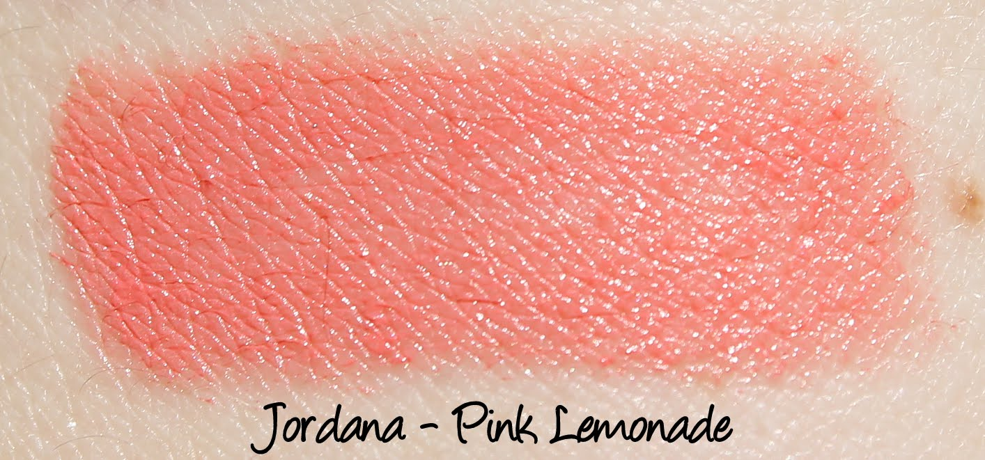 Jordana Lipsticks - Pink Lemonade Swatches & Review
