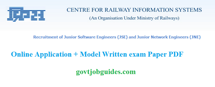 CRIS Career RecruitmentSoftwareNetwork Engineer Govt post Govt – Jr Network Engineer Jobs