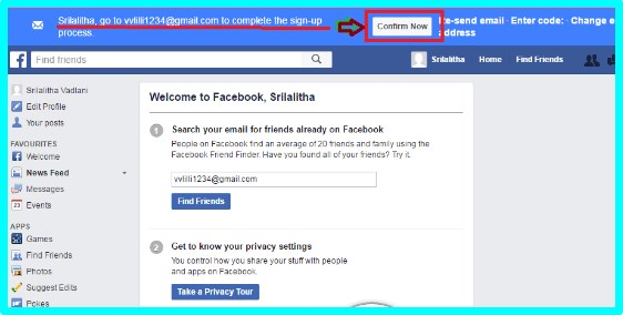 how to sign up for facebook by gmail account