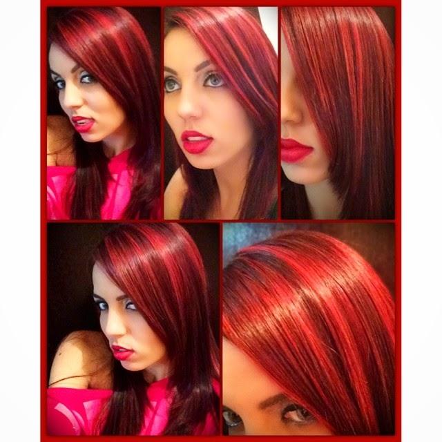 Red hair, mechas vermelhas
