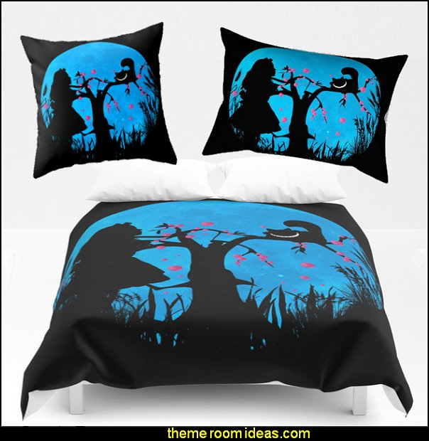 Alice In Wonderland Blue Moon Comforter