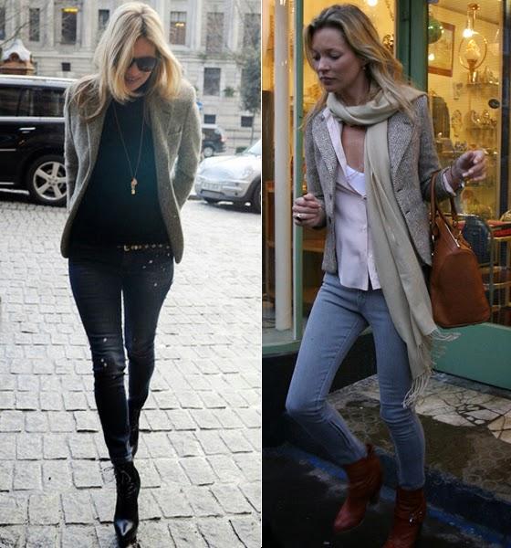 Por las calles de Londres, Kate Moss luce el blazer de lana @Blocdemoda