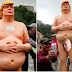 See N$ked Statue Of Donald Trump Which Appeared In A New York Park. (Photos)