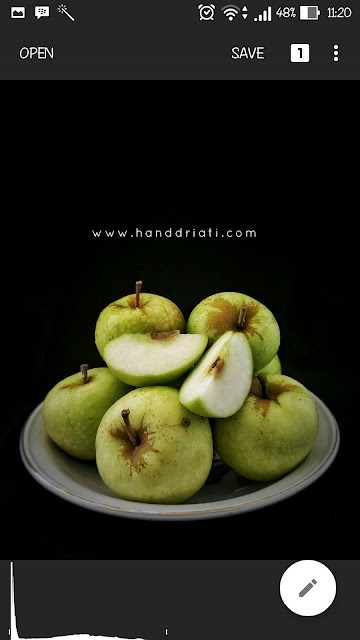 "Cara Edit Foto ""Dark and Moody Food Photography"" Menggunakan Snapseed"