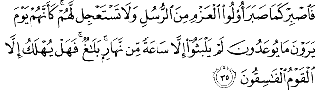 Surat Al-Ahqaf ayat 35
