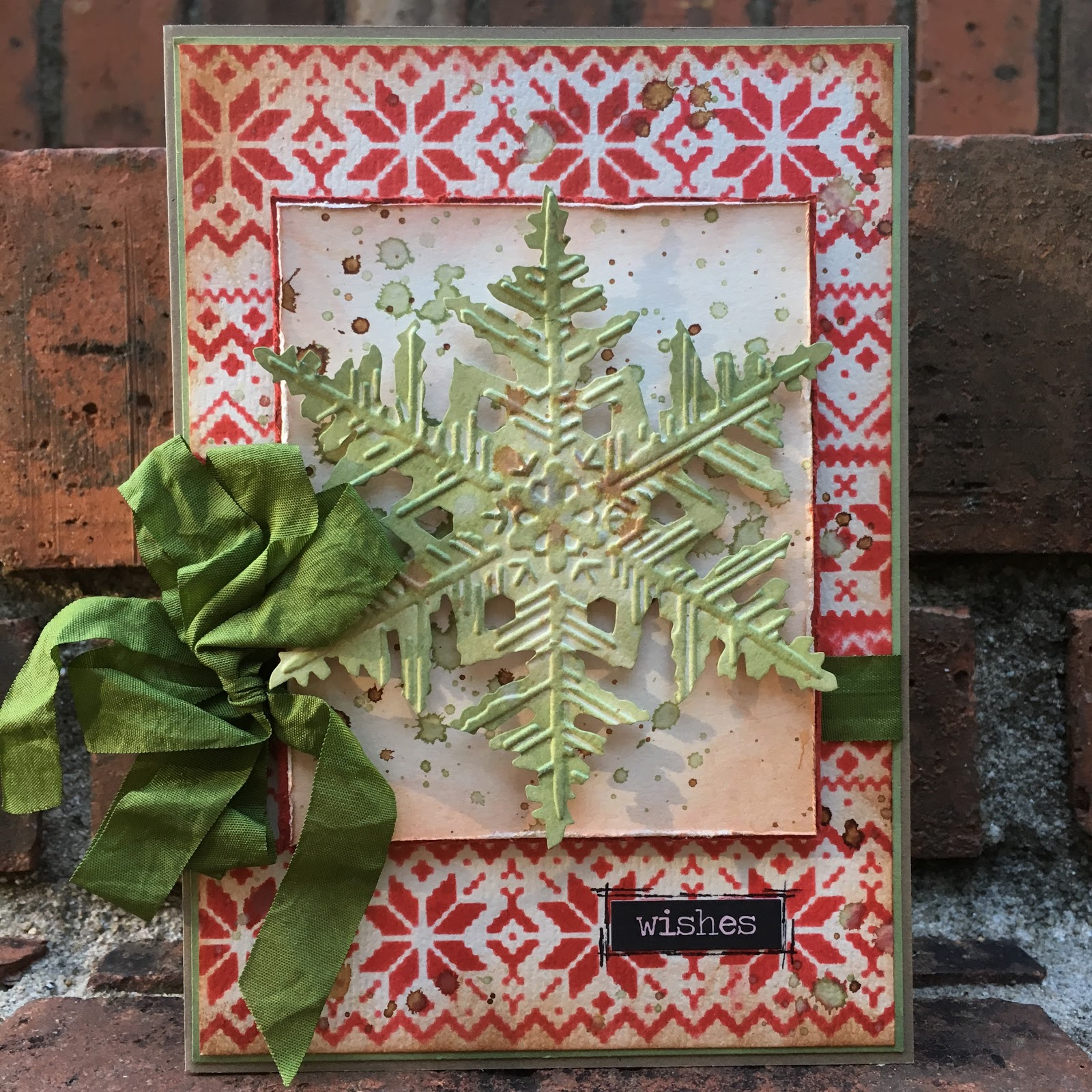 tim holtz snowflake knit card for 12 tags of christmas