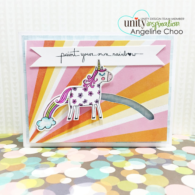 ScrappyScrappy: Unity Stamp Edgy & Cute Blog Hop + [NEW VIDEOS] - Penny Slider Unicorn card #scrappyscrappy #unitystampco #stamp #card #papercraft #interactivecard #pennyslidercard #rainbow #unicorn #susanweckesser #copic #coloring  #cardmaking #youtube #handmadecard