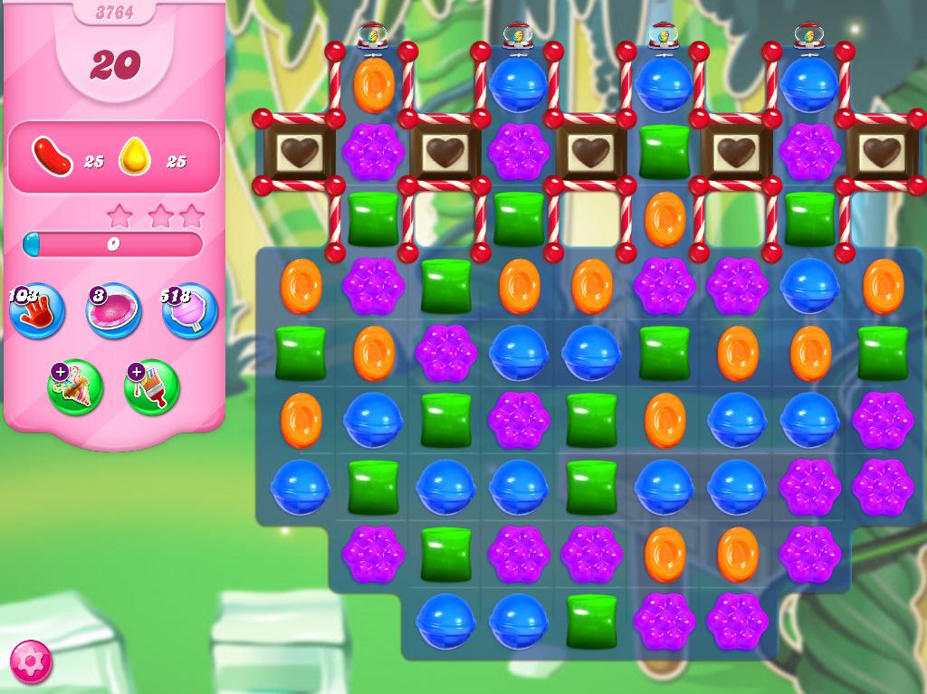 Candy Crush Saga level 3764