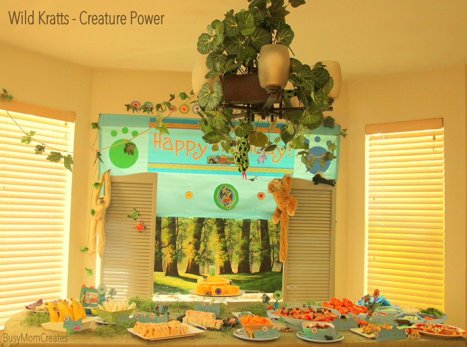 Wild Kratts Creature Power Themed Birthday Party