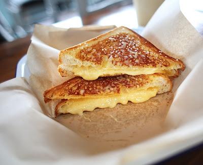 Quattro Formaggio grilled cheese sandwich