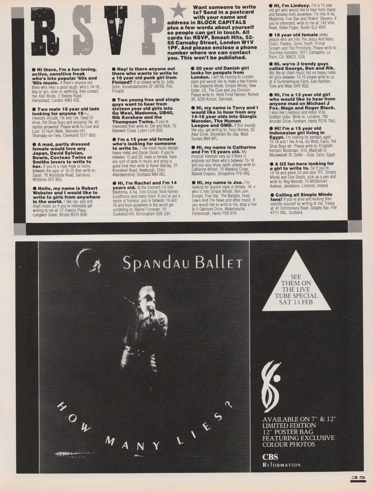 214 - 11th - 24th February 1987 - Smash Hits Remembered 43