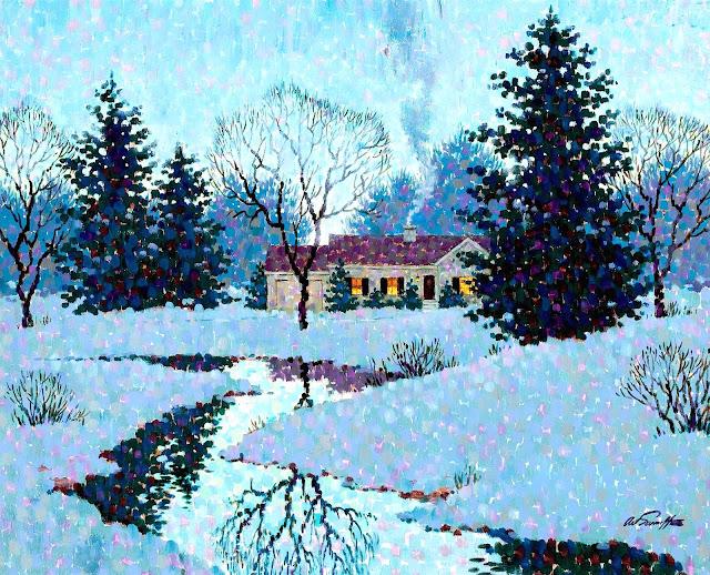 Arthur Saron Sarnoff winter scene