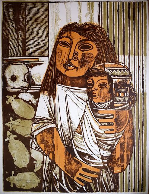 Gil Imaná pintura boliviana tradicional maternidad