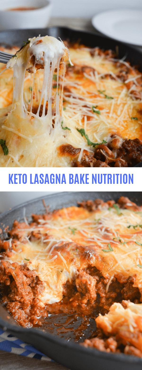 KETO LASAGNA BAKE NUTRITION