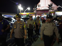 Polres Pelabuhan Belawan Dan Jajarannya Melakukan Pengamanan 156 Gereja di Malam Natal