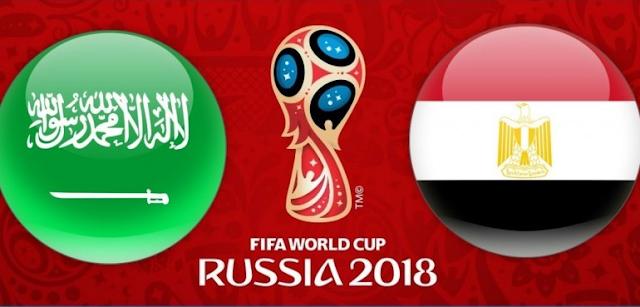 موعد مباراة مصر والسعودية في كأس العالم 2018 والقنوات الناقلة للمباراة والمعلقين