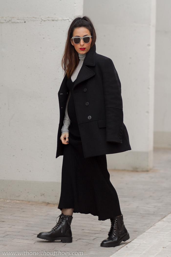 Look blogger embarazada comodo con ropa de zara