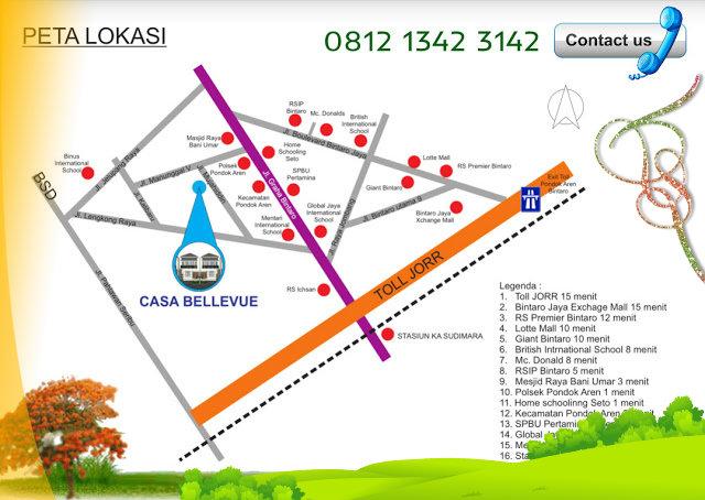 peta-denah-lokasi-perumahan-casa-bellevue-residence-bintaro