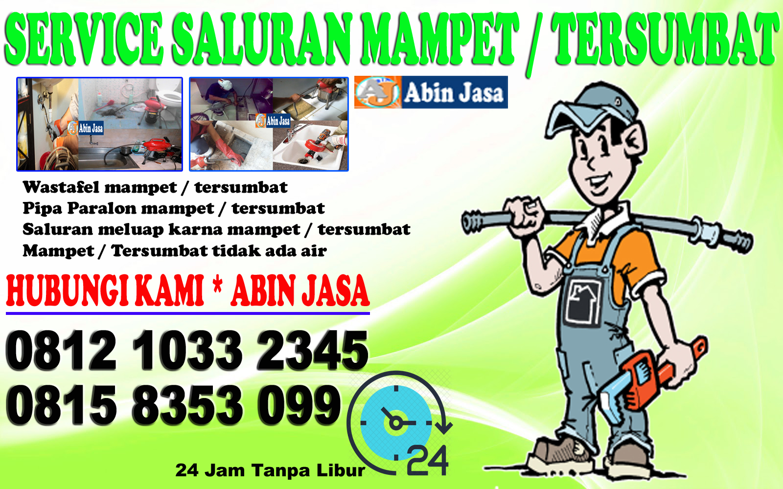 Tukang Ledeng gondangdia, Jasa Pelancar Saluran Mampet 08158353099