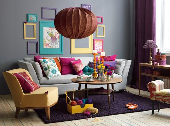 Desain Ruangan Colorful Minimalis