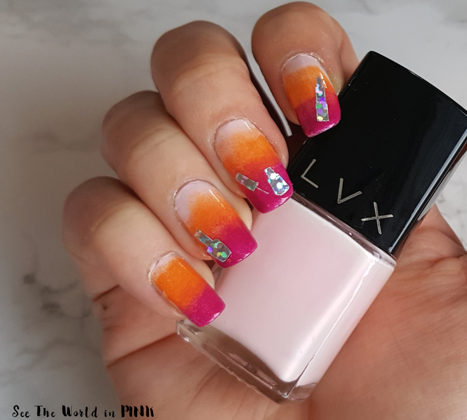 Manicure Monday - Gradient Ombre Nail with Beauty Decals!