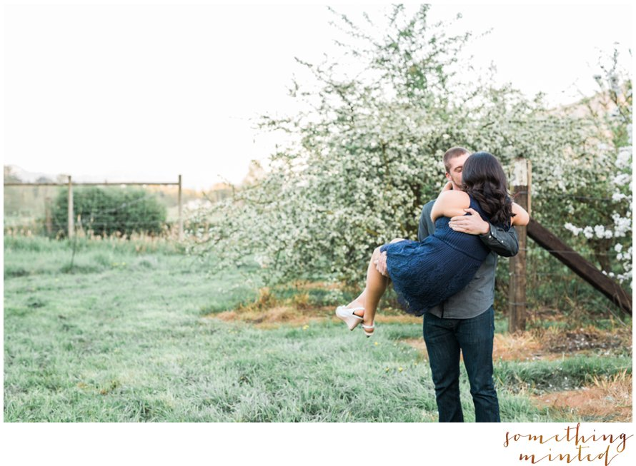 Romantic Orchard Engagement Session by Something Minted Photography