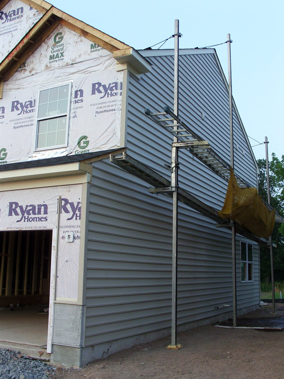 Our 1st New Home Building A Ryan Homes Milan July 2011