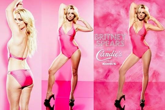 hasil photosop Britney Spears untuk Candie's