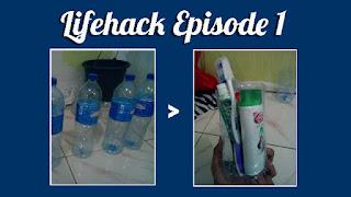 Tempat Peralatan Mandi Dari Botol Bekas