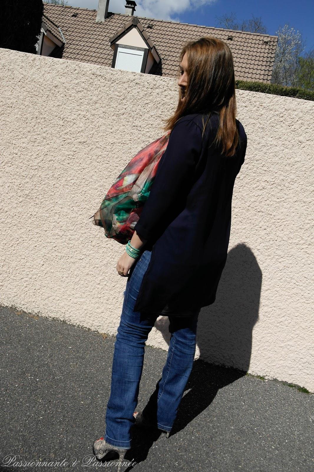 blouse asymétrique babou