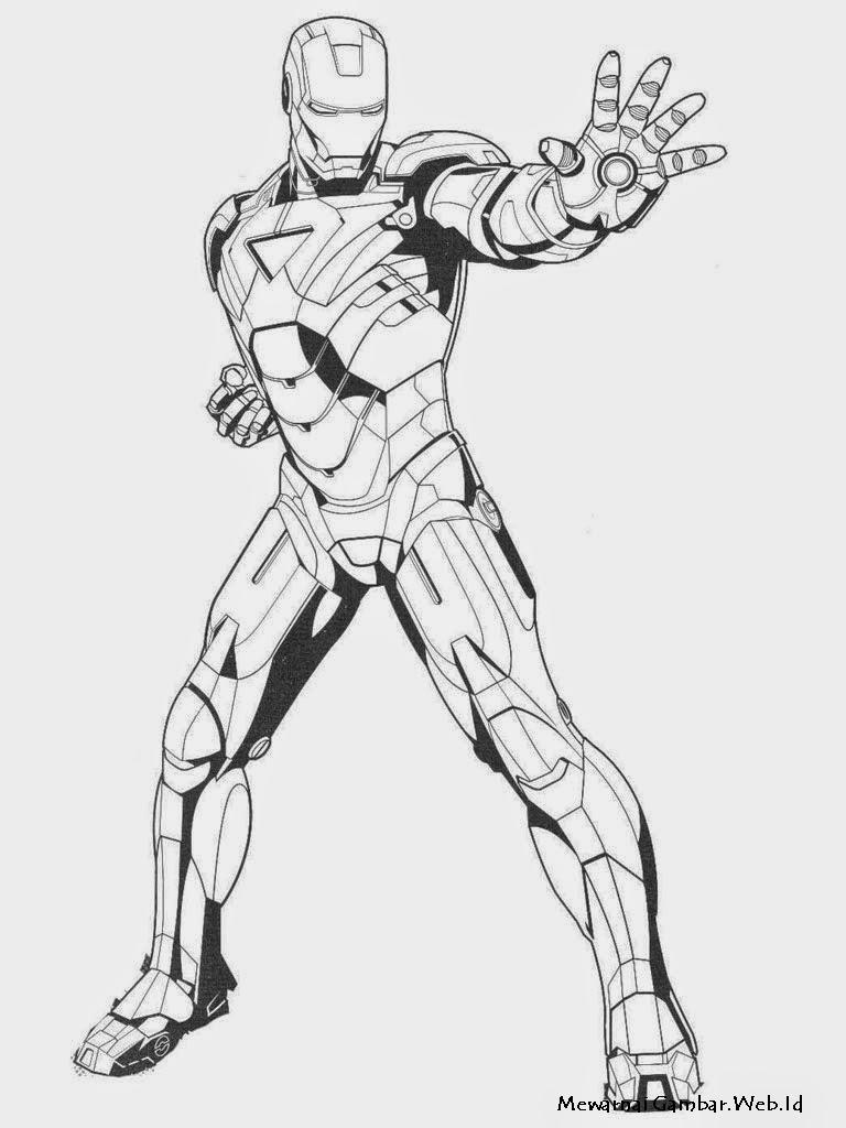 Iron Man  Mewarnai Gambar