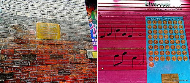 Parede da Fama (Wall of Fame) do Cvern Club, Liverpool