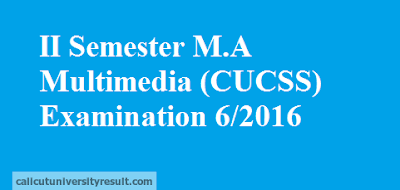 Calicut University II Semester M.A Multimedia CUCSS Result