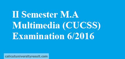 Calicut University II Semester M.A Multimedia CUCSS Result