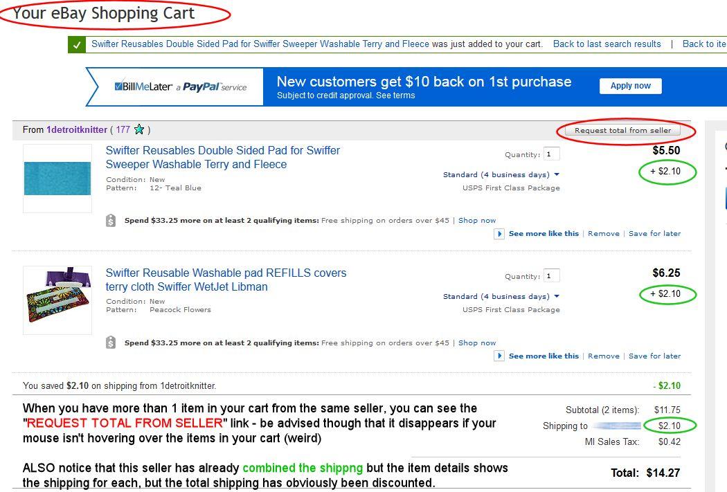 Detroitknitter Ebay Request Total From Seller