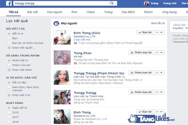 tim kiem qua go ten nguoi dung facebook