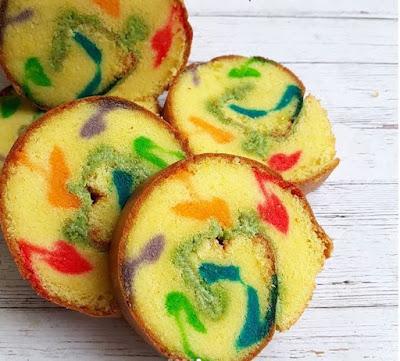 Resep dan Cara Membuat Roll Cake Rainbow Untuk Pemula