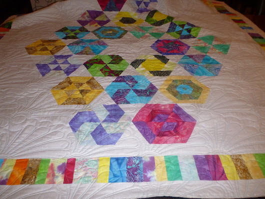 Longarm quilting - recent customer quilts