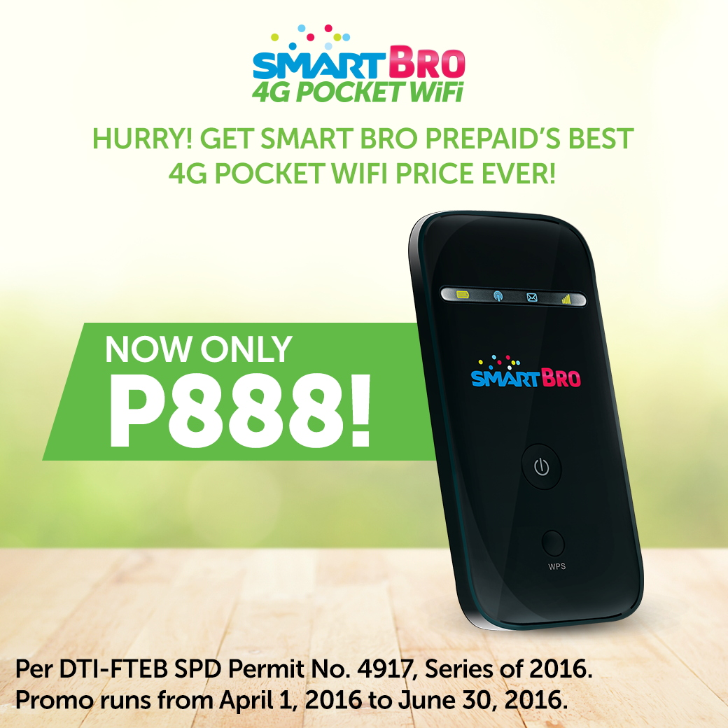 HOTTEST DEAL:  SMART 4G Pocket Wifi is Now P888