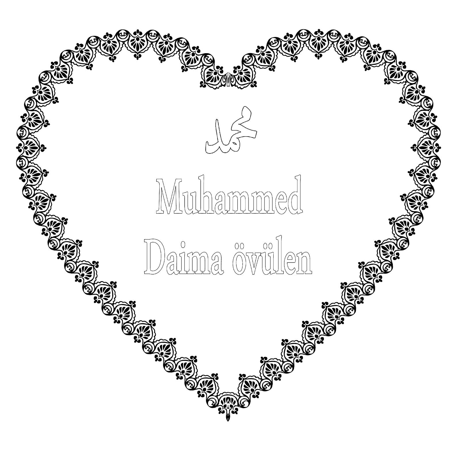 Dindersioyuncom Hz Muhammedin Sav 63 Ismi Boyama Kağıtları
