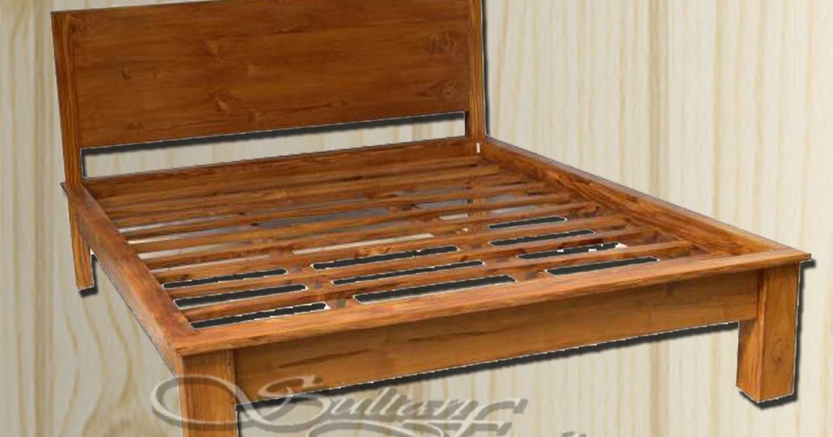 Jual Furniture Jati Minimalis Dipan Jati Ranjang Bed