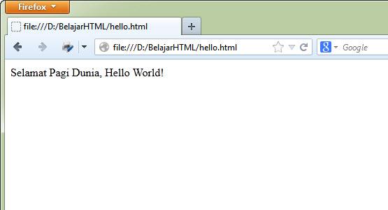 Belajar HTML Dasar Part 4: Cara Menjalankan File HTML
